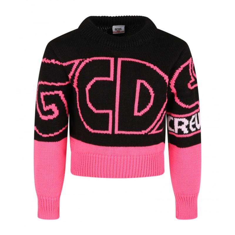 GCDS BABY - Maglione con Logo 028668 - Nero