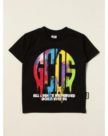 GCDS BABY - T-shirt con stampa 028455 - Nero