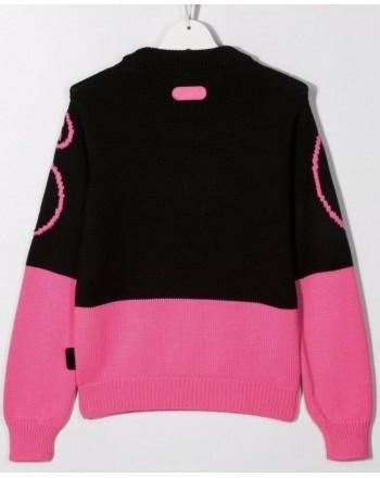 GCDS BABY - Sweater with Logo 028668 - Black