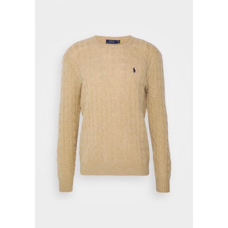 POLO RALPH LAUREN - Maglia Polo Ralph Lauren lana e cashmere 710719546 - Camel melange