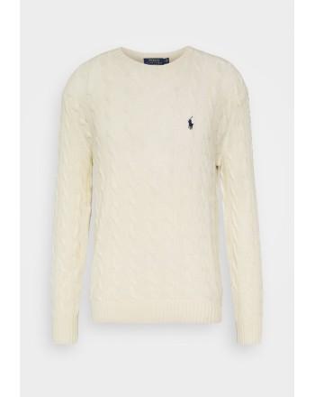 POLO RALPH LAUREN - Maglia Polo Ralph Lauren lana e cashmere 710719546 - Andover Cream