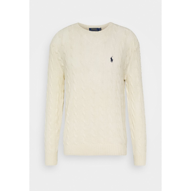 POLO RALPH LAUREN - Polo Ralph Lauren wool and cashmere sweater 710719546 - Andover Cream