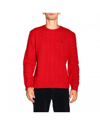 POLO RALPH LAUREN - Polo Ralph Lauren wool and cashmere sweater 710719546 - Red