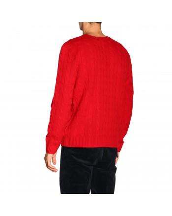 POLO RALPH LAUREN - Maglia Polo Ralph Lauren lana e cashmere 710719546 - Rosso