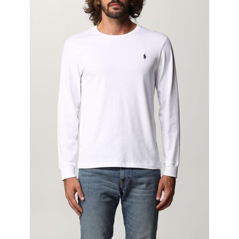 POLO RALPH LAUREN - T-shirt Polo Ralph Lauren in cotone 710671468 - Bianco