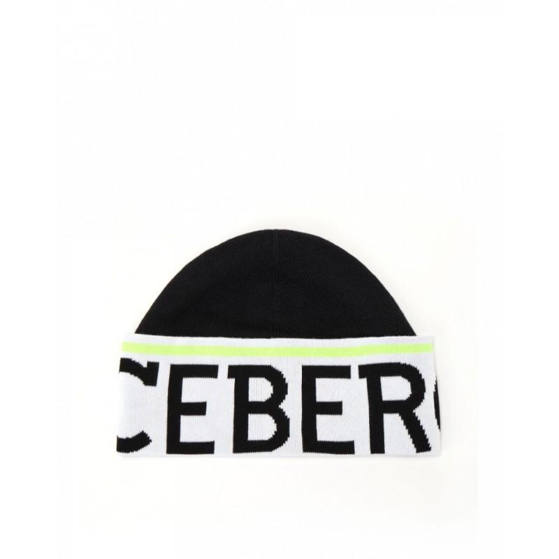 ICEBERG - Wool Logo Beanie - Black