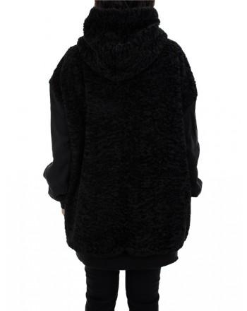 5 PREVIEW - Trinity women's short coat - Black