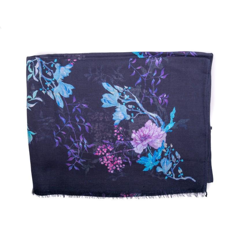 LES COPAINS - Sciarpa in Modal e Cashmere stampa fiori - Flora