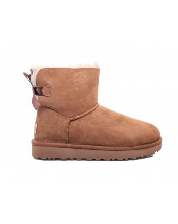 UGG - Stivale MINI BAILEY in Pelle scamosciata - Chestnut