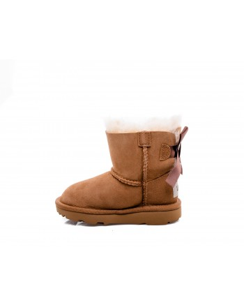 UGG BABY -  Suede MINI BAILEY Boots - Chestnut