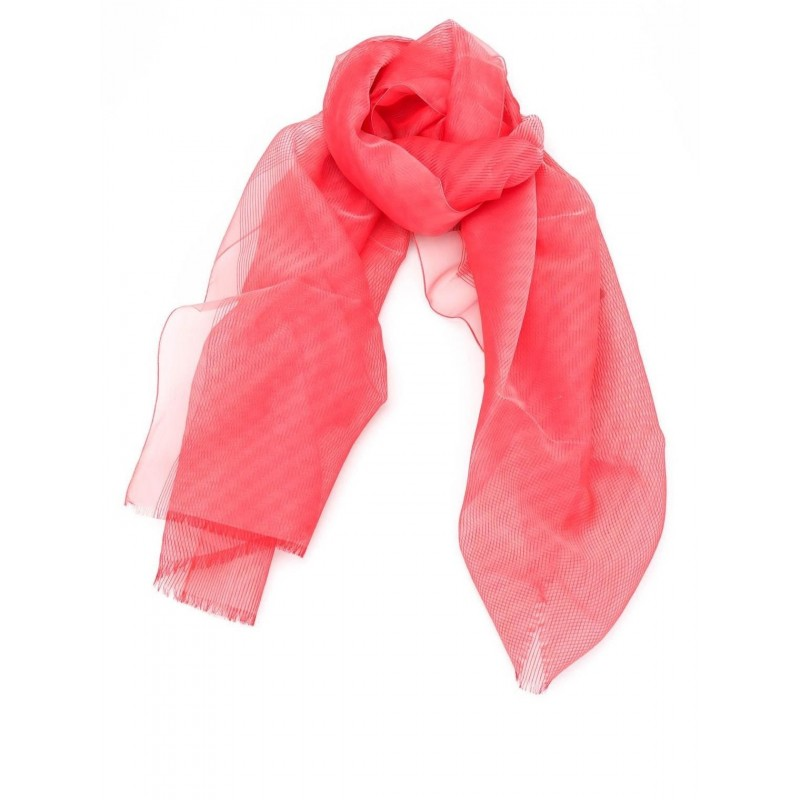 MAX MARA - CRESTA stole in blended silk  - Red