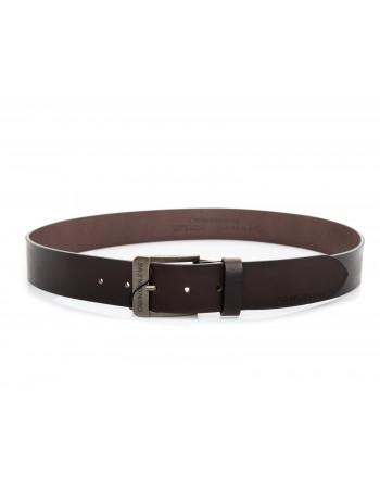 CALVIN KLEIN - Leather Belt - Brown