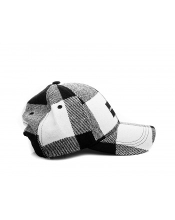CALVIN KLEIN - Hat with wool visor - Black/BiancWhite