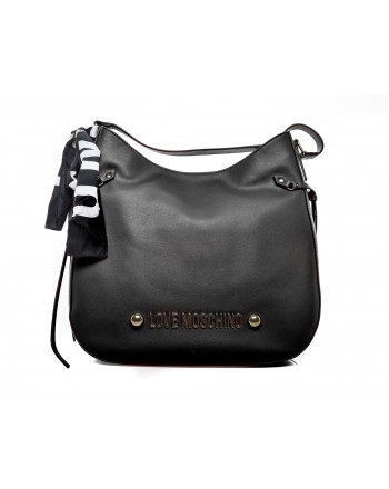 LOVE MOSCHINO - Shoulder Bag with Foulard - Black
