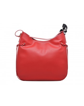 LOVE MOSCHINO - Shoulder Bag with Foulard - Red