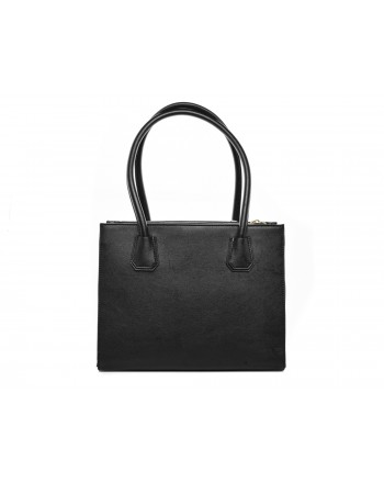 LOVE MOSCHINO - Faux leather bag with logo Lettering and bow - Black