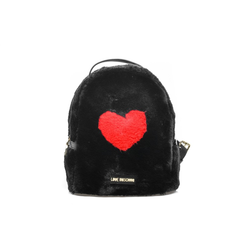 LOVE MOSCHINO - Heart Ecofur Backpack - Back