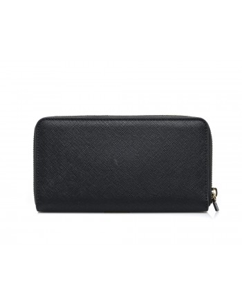 LOVE MOSCHINO - Zip around wallet in faux leather - Black