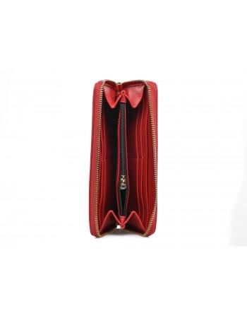 LOVE MOSCHINO - Portafoglio zip around in ecopelle - Rosso