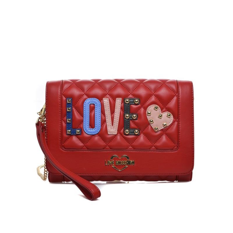 Borse Moschino Love.Love Moschino Borsa A Tracolla Ecopelle Con Patch Love Red Woman Elsa Boutique