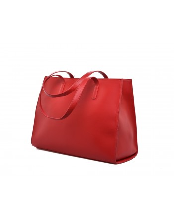 LOVE MOSCHINO - CHARMING Patch Bag - Red