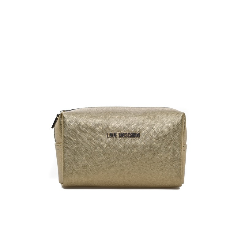 LOVE MOSCHINO - Pochette trousse in ecopelle - Oro