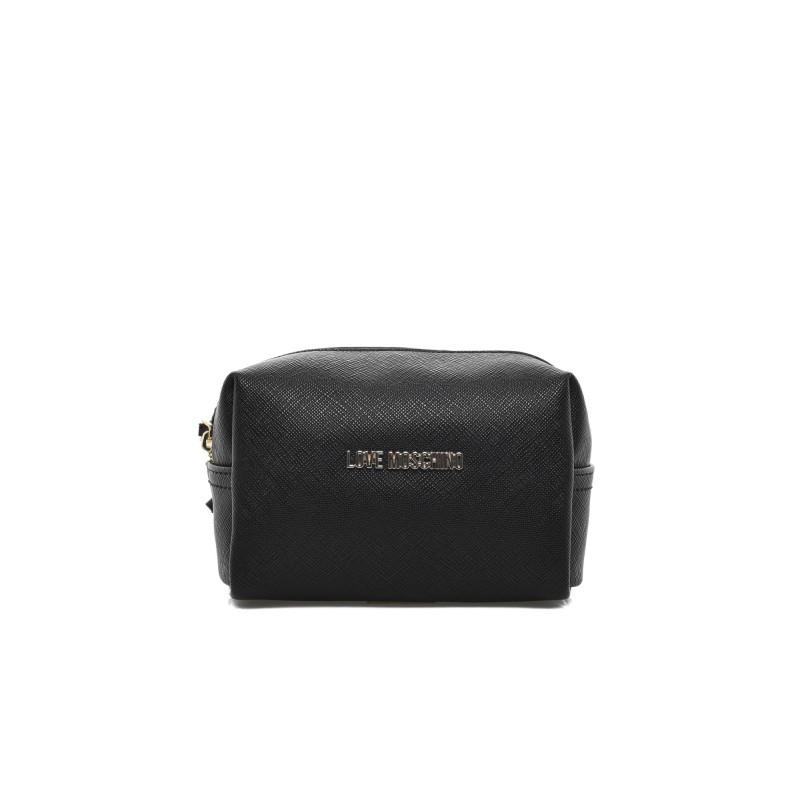 LOVE MOSCHINO - Small cosmetic Bag - Black
