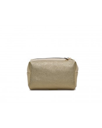 LOVE MOSCHINO - Small cosmetic Bag - Gold