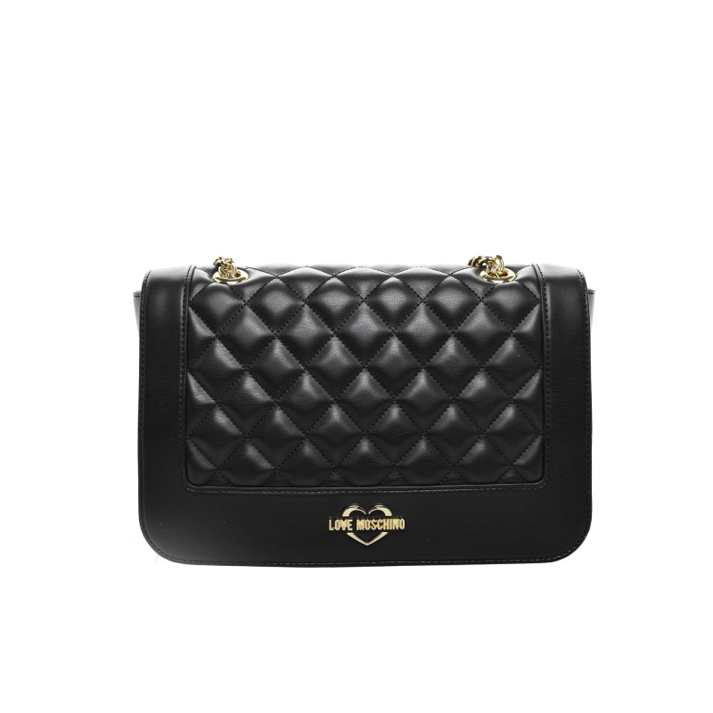 Love Moschino Borsa Quilted Chain link Shoulder Bag Lyst