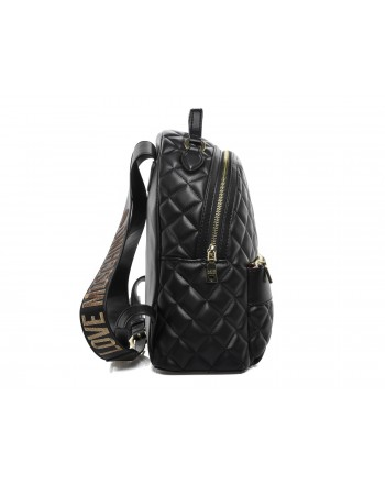 LOVE MOSCHINO - Zaino Trapuntato in ecopelle - Nero/Oro