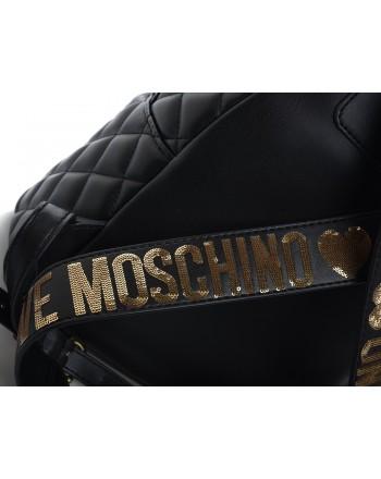 LOVE MOSCHINO - Zaino Trapuntato in ecopelle - Nero/Oro