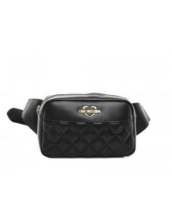 LOVE MOSCHINO - Quilted Leather Pouch - Black