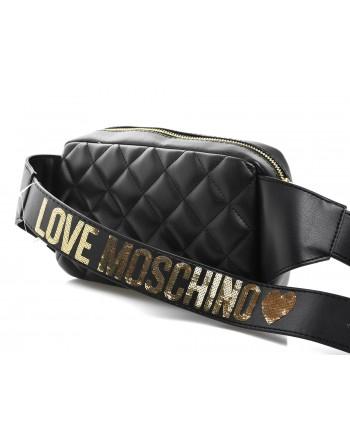 LOVE MOSCHINO - Marsupio in ecopelle trapuntate - Nero