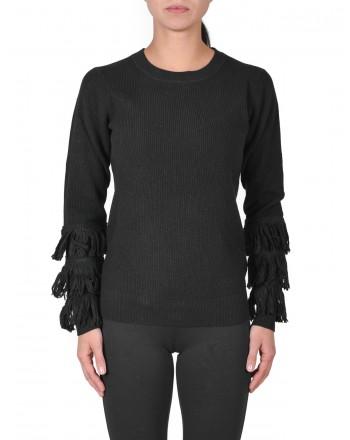 MICHAEL di MICHAEL KORS - Maglia con frange in lana - Nero
