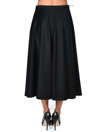 MAX MARA - Wool Wide Skirt STECCA - Black