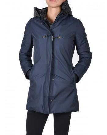 FAY - Tech Fabric Down Jacket- Blue