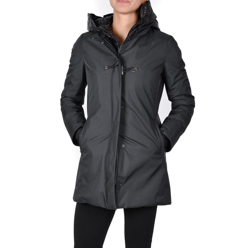 FAY - Tech Fabric Down Jacket- Black