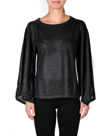 MICHAEL DI MICHAEL KORS -  Wide Sleeves Wool Knit - Black