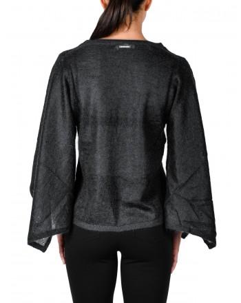 MICHAEL DI MICHAEL KORS -  Wide Sleeves Wool Knit - Black