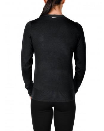 MICHAEL DI MICHAEL KORS -  Cross Detail Knit - Black