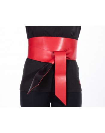 PINKO - Cintura UMBERTO I in pelle - Rosso/Nero