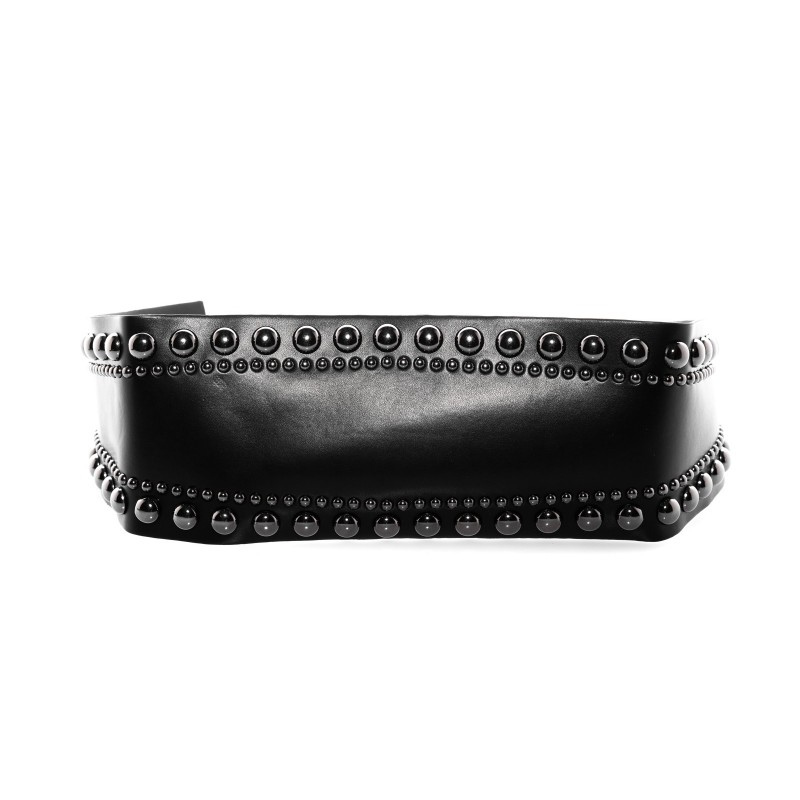 PINKO - Cintura in ecopelle con borchie - Nero