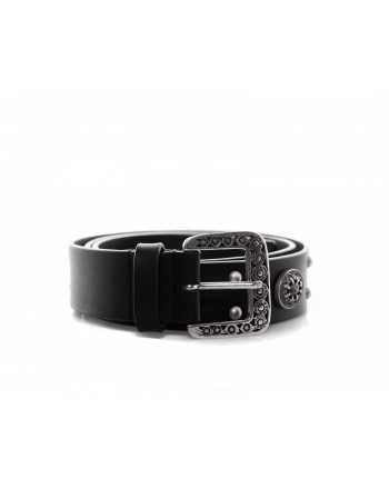 PINKO - NINFEA Belt with Jewel - Black