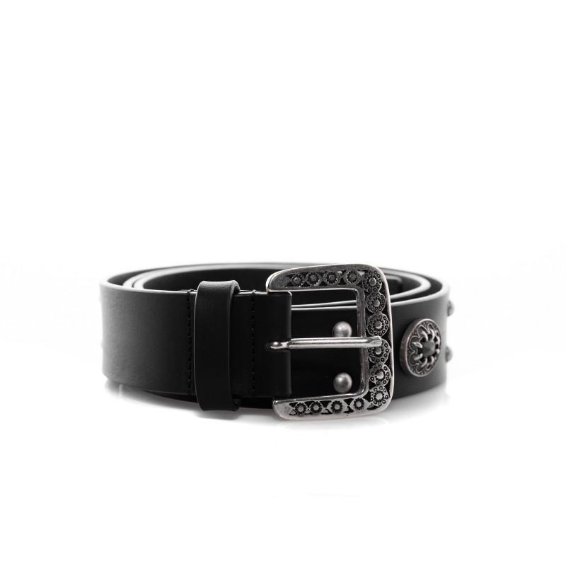 PINKO - NINFEA Belt with Jewel - Black