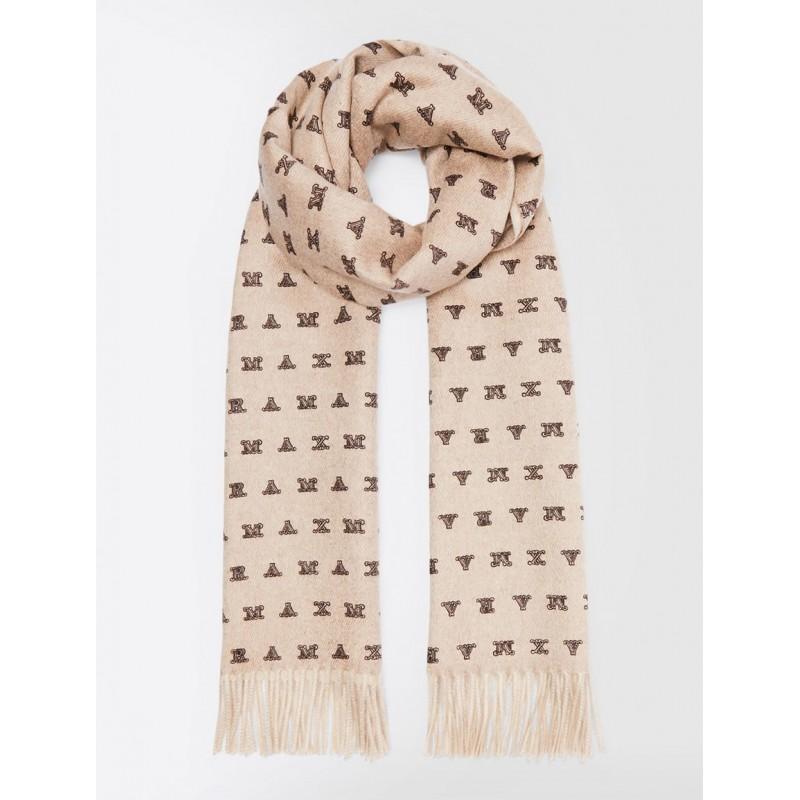 MAX MARA - WSLOGO cachemere scarf - Beige