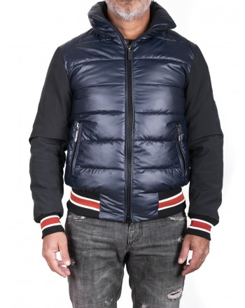 INVICTA - Down Jacket with Tech fabric Sleeves - Dark Blue/Black