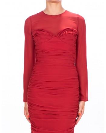 MAX MARA - Silk Georgette Dress ODER - Red
