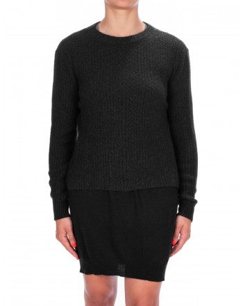 MAX MARA - Wool and Camel Knit MOCHA - Black
