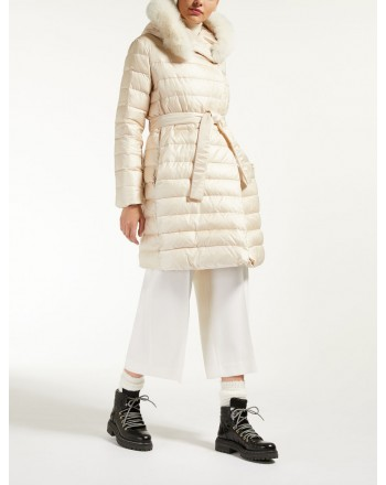 MAX MARA STUDIO - Norcia coat with hood - Ivory