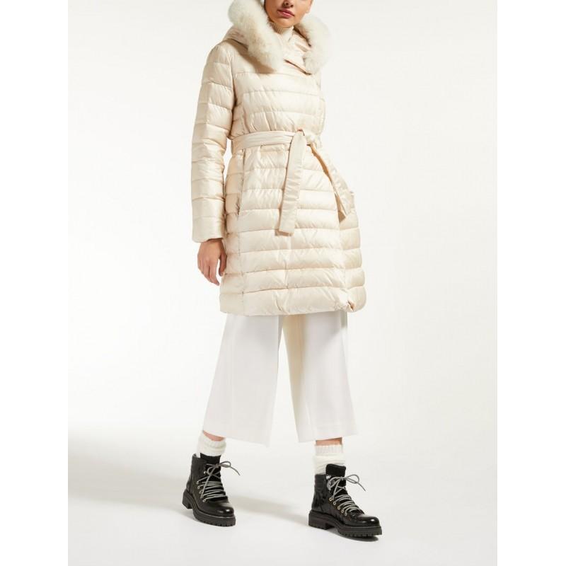 MAX MARA STUDIO - Norcia coat with hood - Ivory